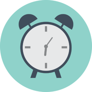 Relógio mostra o tempo que está marcando para estudar inglês