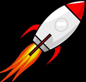 foguete levanta voo simbolizando a fluência no inglês