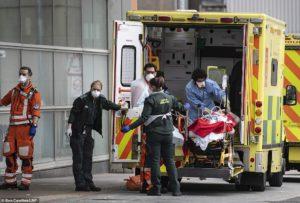 Ambulância no Reino Unido mostra socorro para Corona Vírus - Vocabulário de Inglês.