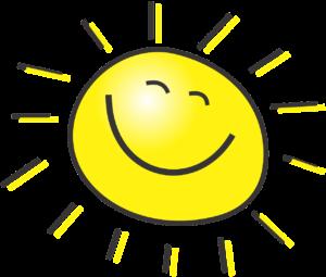 O sol na foto simboliza os Dias Da Semana Em Inglês